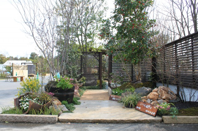 花と緑の市出品作品の造園事例